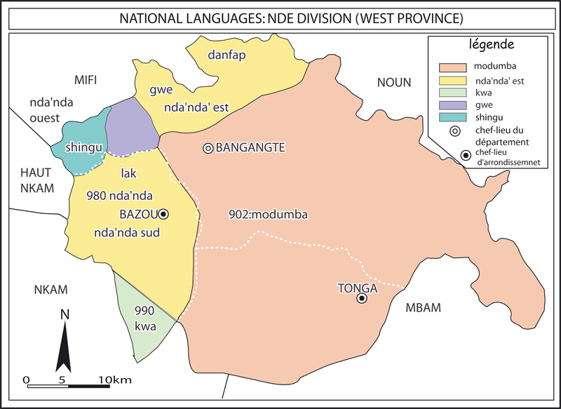 Maps of cameroon languages vegetation population towns languages spoken in the nde division ccuart Choice Image